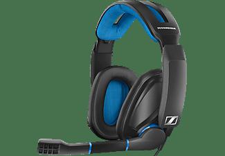 SENNHEISER GSP 300, Over-ear Gaming Headset Schwarz/Blau
