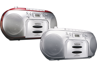 LENCO SCD420 mit Kassettendeck Radiorecorder, Rot