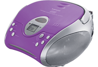 LENCO SCD-24 Radiorecorder, Lila