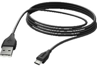 HAMA Lade/Sync, Kabel, 3 m, Schwarz