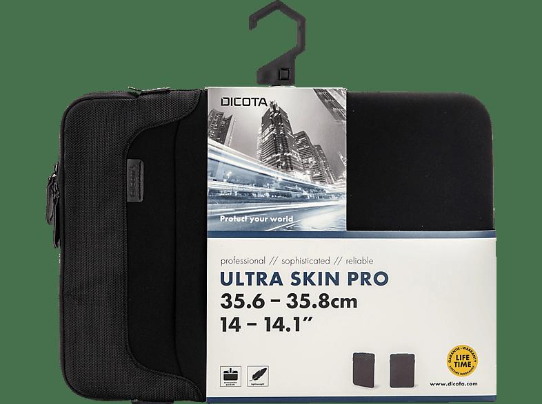 DICOTA Ultra Skin PRO Notebookhülle, Sleeve, 14.1 Zoll, Schwarz