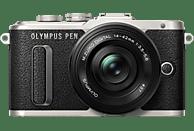 OLYMPUS PEN E-PL8   Systemkamera 16.1 Megapixel mit Objektiv 14-42 mm f/3.5-5.6, 7,6 cm Display Touchscreen, WLAN