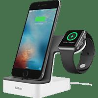 BELKIN Apple Watch + iPhone Duo Ladestation, Weiß Ladestation, Weiß