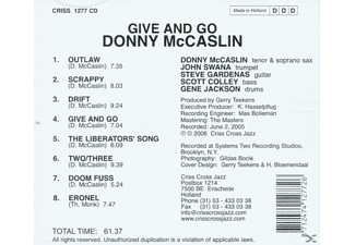 Donny McCaslin - GIVE AND GO  - (CD)