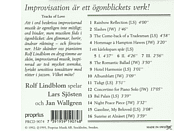 Rolf Lindblom - Tracks Of Love [CD]