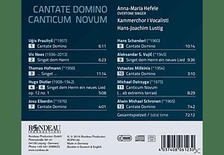 Hefele/Lustig/Kammerchor I Vocalisti - Cante Domino Canticum Novum  - (CD)