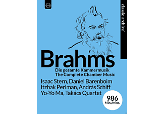Isaac Stern, Daniel Barenboim, Itzhak Perlman, András Schiff, Yo-Yo Ma, Takacs Quartet - Brahms:Die Gesamte Kammermusik  - (Blu-ray)