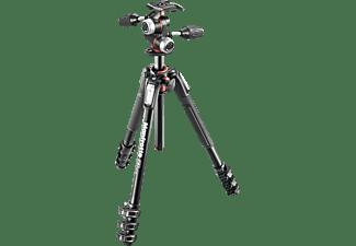 MANFROTTO MK190XPRO4-3W Dreibein Stativ, Schwarz, Höhe offen bis 80 mm
