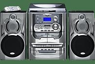 KARCHER HiFi-Anlage KA 5300 Kompaktanlage (CD, Kassette, Schallplatte, Silber)