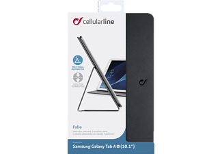 CELLULAR LINE FOLIO Tablethülle Bookcover für Samsung Kunstleder/Microfaser, Schwarz