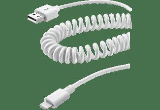 CELLULAR LINE 35368, Spiral-Datenkabel, Weiß