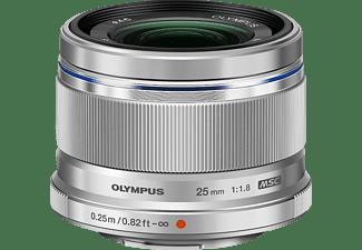 OLYMPUS M.ZUIKO Digital 25mm 1:1.8 25 mm - 25 mm f/1.8 MSC (Objektiv für Micro-Four-Thirds, Silber)