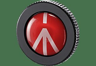 MANFROTTO ROUND PL Kameraplatte, Schwarz/Rot