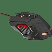 TRUST GXT 148 Gaming Maus, Schwarz/Rot