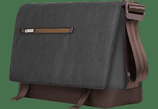 MOSHI Aerio Messenger Notebooktasche Umhängetasche für Universal Polyester, Kunstleder, Anthrazitschwarz