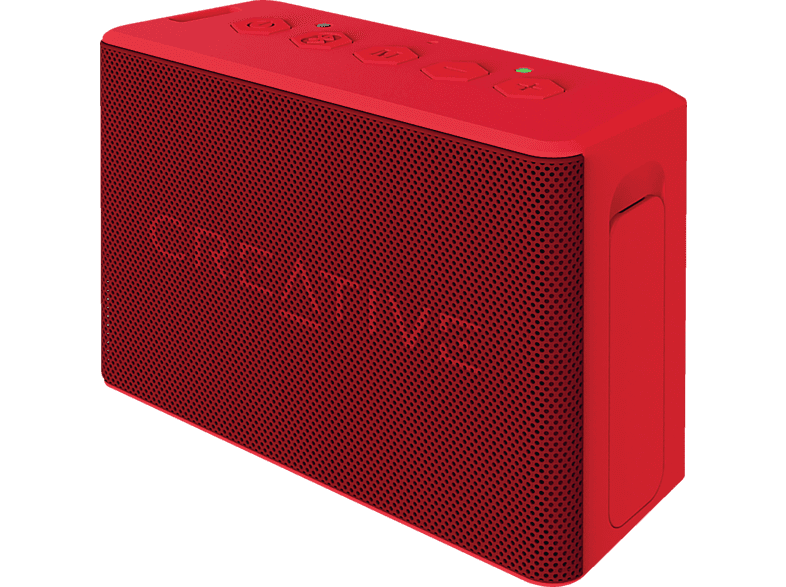 CREATIVE 51MF8250AA000 MUVO 2C Bluetooth Lautsprecher, Rot, Wasserfest