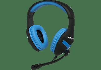 KONIX 24263, Over-ear Gaming Headset Schwarz/Blau
