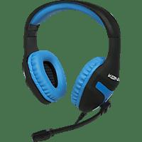 KONIX 24263 Gaming Headset Schwarz/Blau