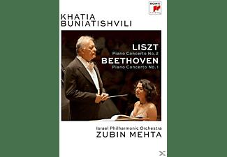 Khatia Buniatishvili, Israel Philharmonic Orchestra - Klavierkonzert 2/Klavierkonzert 1  - (DVD)
