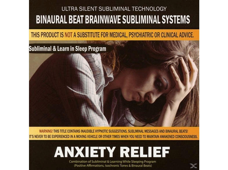 Binaural Beat Brainwave Subliminal Systems - Anxiety Relief: Combination of Subliminal [CD]