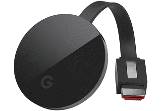 Reproductor Multimedia - Google Chromecast Ultra, Ethernet, 4K Ultra HD, WiFi Ac