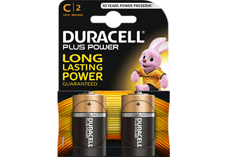 DURACELL C PLUS POWER ALKALINE 2PCS - Batterie (Schwarz/Kupfer)