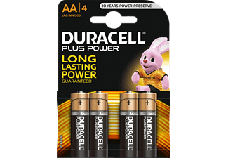 DURACELL AA PLUS POWER ALKALINE 4PCS - Batterie (Schwarz/Kupfer)