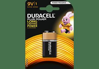 DURACELL Plus Power 9 Volt Batterie, Alkaline, 9 Volt 1 Stück