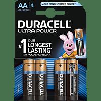 DURACELL Ultra Power AA Mignon Batterie, Alkaline, 1.5 Volt 4 Stück