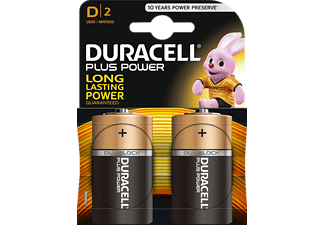 DURACELL Plus Power MN1300/D 2er - Batteria (nero/rame)