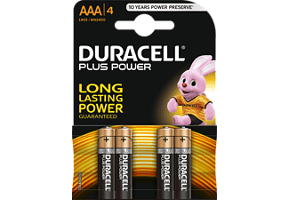 DURACELL AAA PLUS POWER ALKALINE 4PCS - Batterie (Schwarz/Kupfer)