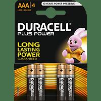 DURACELL Plus Power AAA Micro Batterie Alkaline 4 Stück