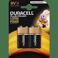 DURACELL Plus Power  9 Volt Batterie Alkaline 2 Stück