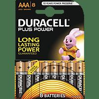 DURACELL Plus Power  AAA Micro Batterie Alkaline 8 Stück