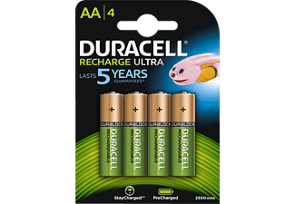 DURACELL StayCharged AA, pacchetto da 4 - Batteria ricaricabile (Verde/Rame)