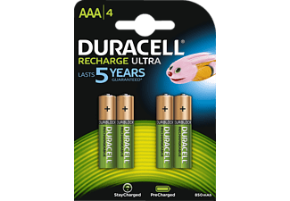 DURACELL StayCharged, AAA pack à 4 - Piles rechargeables (Vert/cuivre)