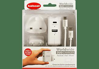 HÄHNEL 1000 650.0 Worldwide Duo Charger Ladegerät Apple, Weiß