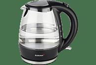 KORONA 20607 Wasserkocher, Schwarz/Edelstahl
