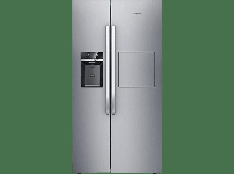 GRUNDIG GSBS 15721 FX  Side-by-Side (370 kWh/Jahr, A++, 1790 mm hoch, Edelstahl)