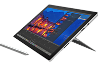 MICROSOFT Surface Pro 4 - inkl. Surface Pro 4 Type Cover, Convertible mit 12.3 Zoll Display, Core™ m3 Prozessor, 4 GB RAM, 128 GB Flash, HD-Grafik 515, Silber