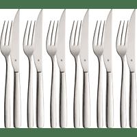 WMF 12.8474.6036 Prego 12-tlg. Steakbesteck-Set Edelstahl