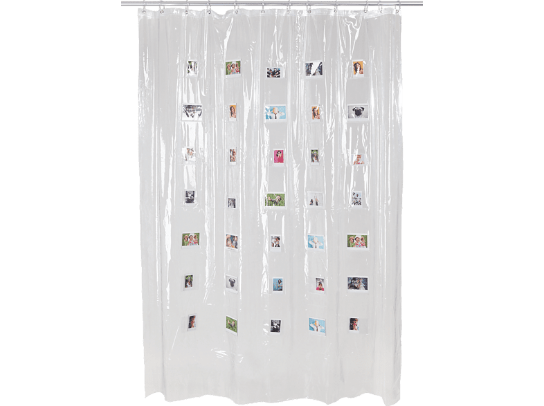 FUJIFILM Instax Mini Shower Curtain Duschvorhang, Weiß