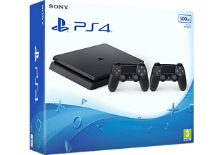 SONY Playstation 4 Slim 500 GB (inkl 2 st handkontroller)