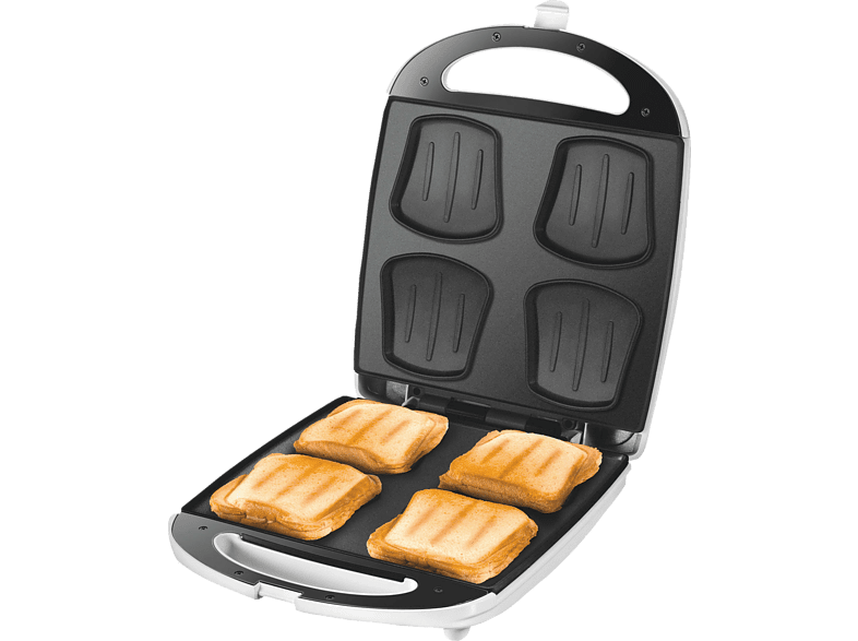 UNOLD 48480 Sandwichmaker Weiß/Edelstahl