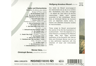 G'ra & Berner - Lieder & Klavierstücke  - (CD)