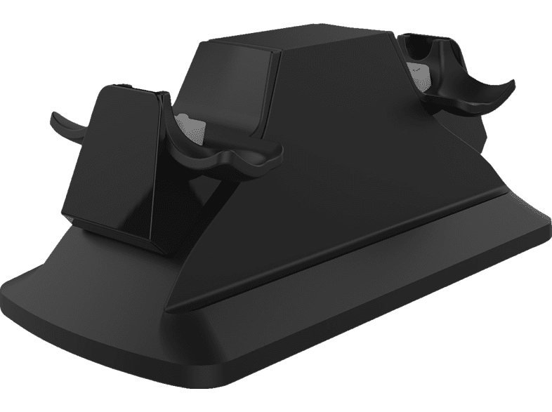 PIRANHA 397013 PS4 Dual Charger für 2 Controller mit Netzteil Ladegerät, Schwarz