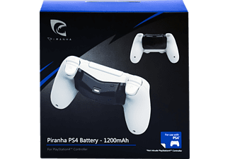 PIRANHA 397014 für PS4 Controller Zusatz, akku für 20 Stunden Spielzeit, Schwarz