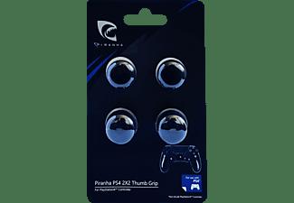 PIRANHA 397020 2x2 Controller, Thumb Grips für PS4, Schwarz