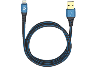 OEHLBACH USB Plus LI Lightning Kabel passend für: Apple Schwarz/Blau
