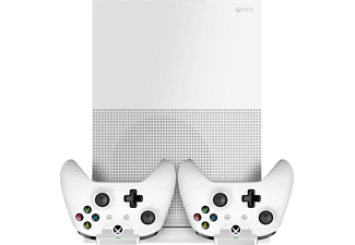 PIRANHA 397130 XB1 S Standfuß USB-Hub Charger, Base-Set XboxOne, Weiß